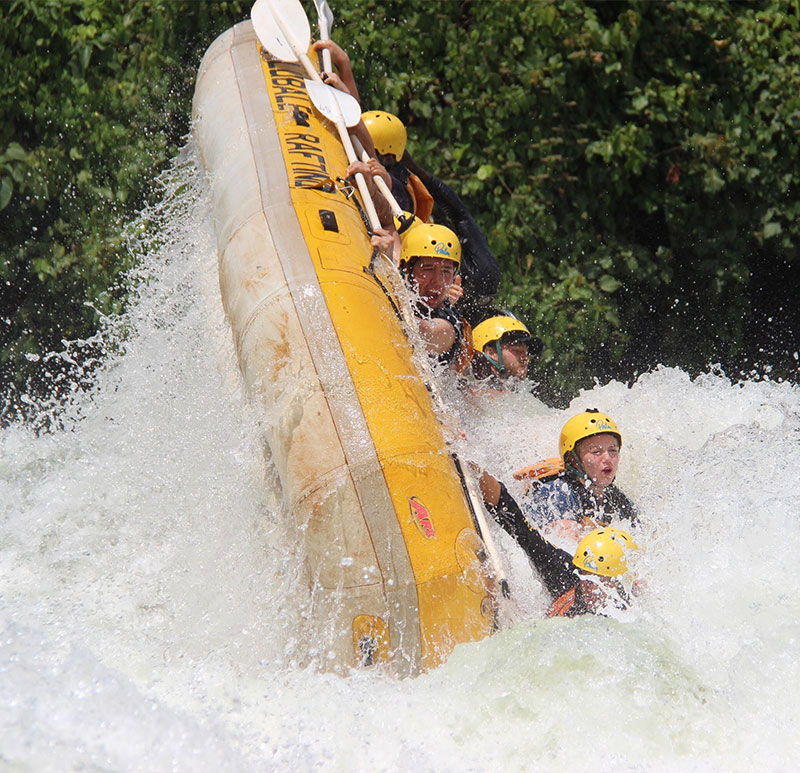 gap year - rafting in uganda